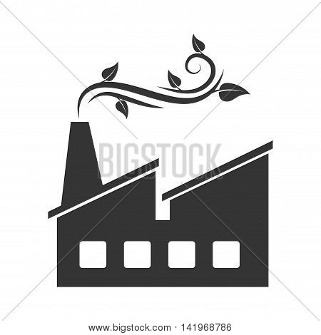 green factory ecology, isolated flat icon design