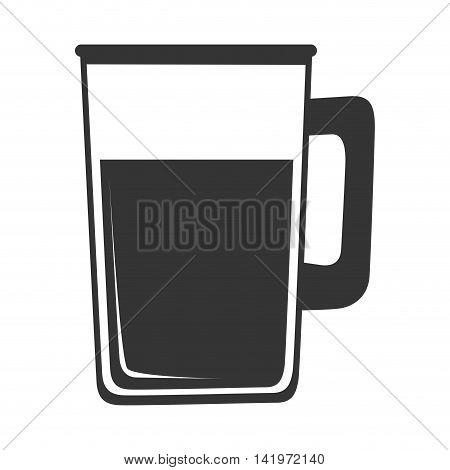 delicious drink glass isolated flat icon design