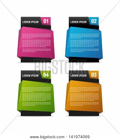 3d multicolor text placeholders with color alternative for your headings or contents