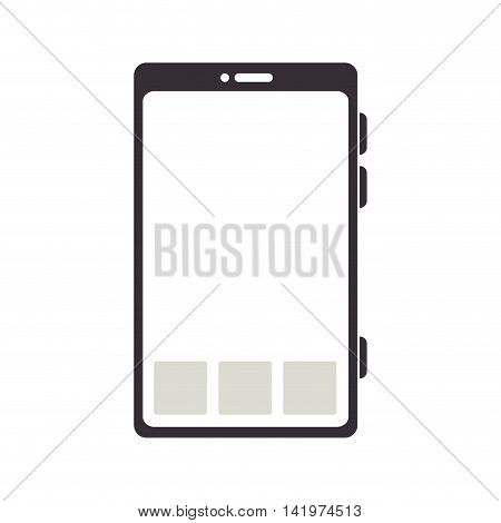 smartphone screen mobile phone technology computer touchscreen apps vector graphic isolated and flat illustration