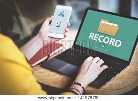 Record Confidential Privacy Information Data Concept