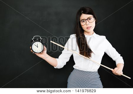Asian Teacher Is Very Angry For A Student Who Always Late