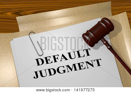 Default Judgment - Legal Concept