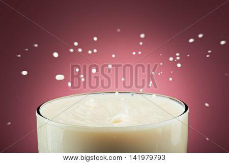 Close Up Of Milk Splashes