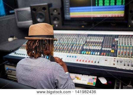 Operator in studio