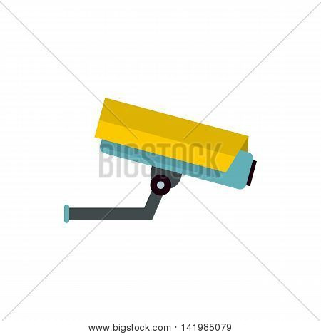Security or surveillance camera icon in flat style isolated on white background