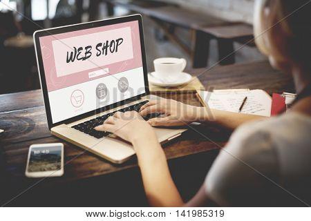 Web Shop Buy Online Internet Shopping Store Concept