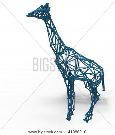 3D Render Illustration Of Giraffe Structure