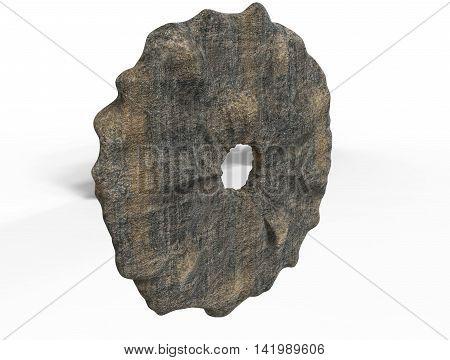 3D Render Of  Stone Wheel