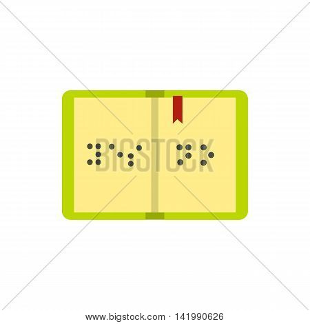 Book written in Braille icon in flat style on a white background