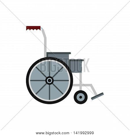 Wheelchair icon in flat style on a white background
