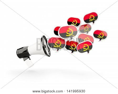 Megaphone With Flag Of Angola