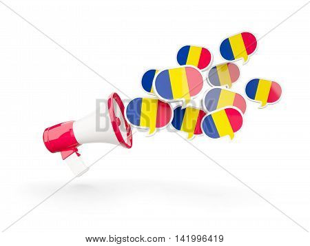 Megaphone With Flag Of Chad