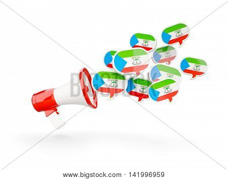 Megaphone With Flag Of Equatorial Guinea