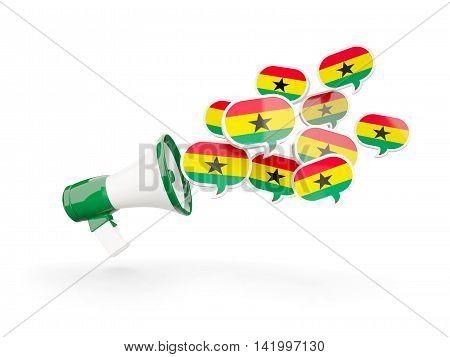 Megaphone With Flag Of Ghana