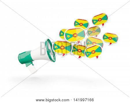 Megaphone With Flag Of Grenada