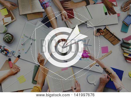 Target Goals Expectations Achievement Graphic Concept