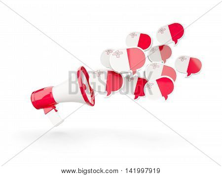 Megaphone With Flag Of Malta