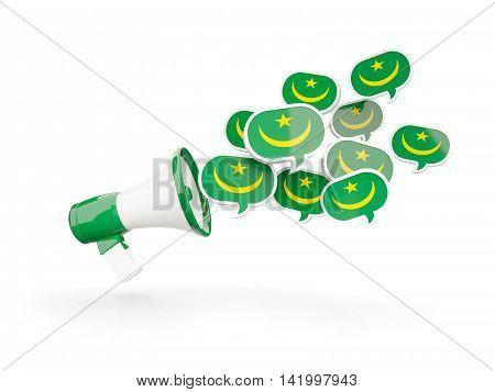 Megaphone With Flag Of Mauritania