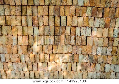 Bricks pile background, texture and pattern brick