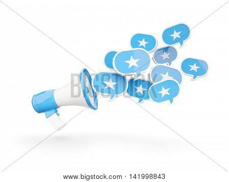 Megaphone With Flag Of Somalia