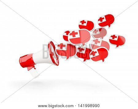 Megaphone With Flag Of Tonga
