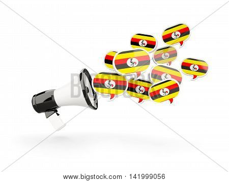 Megaphone With Flag Of Uganda