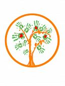 Love Greenpeace Tree.Logo