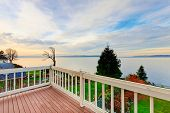 Постер, плакат: Awesome Water View From The Wooden Deck