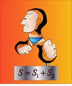 picture of pythagoras  - Pythagoras formula in a form of a bust - JPG