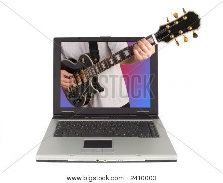 Guitar On Laptop