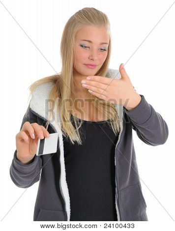 Young Women With Credit Card