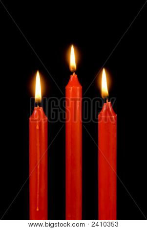 Red Candles On Black