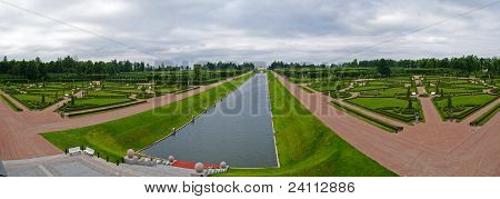 Garden Of State Palace Of Congresses At Strelna