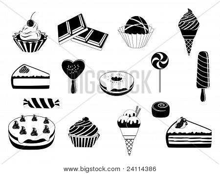 Abstract desserts design vector