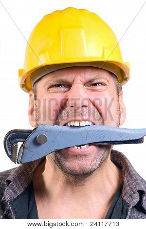 worker with a wrench