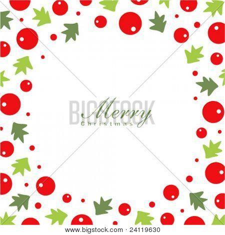 Modelo de cartão de grinalda de Natal