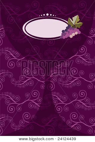Wine Glass Menu Composition