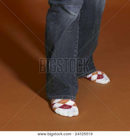 Standing Feet In Brown Back