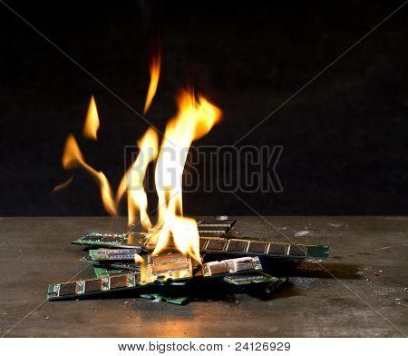 Burning Ram-sticks