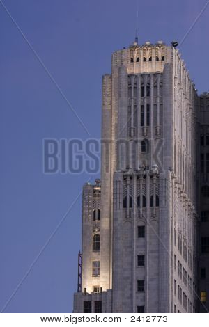 Skyscraper In San Francisco, California, Dawn