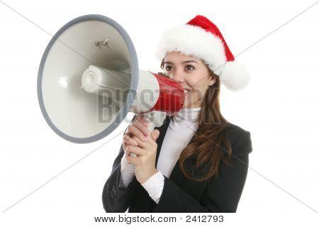 Business Woman At Christmas