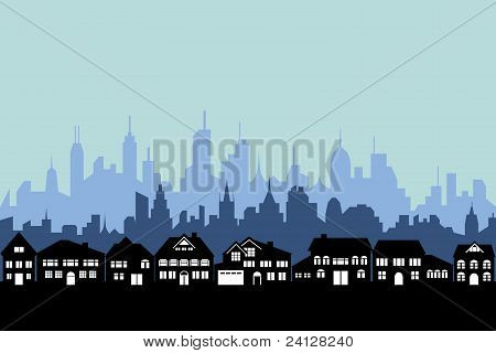 Suburbs And Urban City