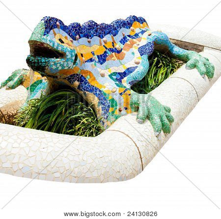Colorful mosaic dragon
