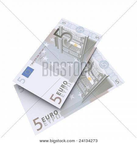 5 euro note closeup
