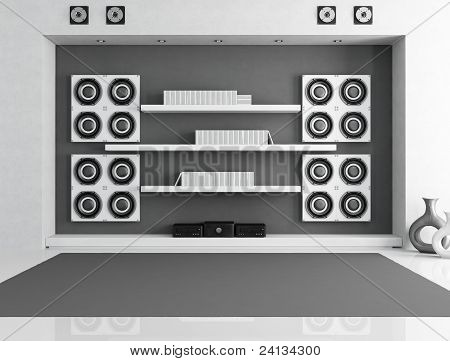 Black And White Music Room
