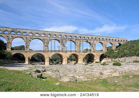 Aqueduct Pont Du Gard In France