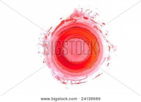 Palette And Red Collor