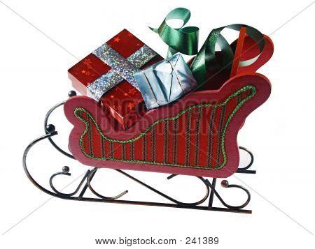 Sled,presents