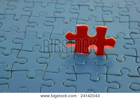 Close up of a Jigsaw